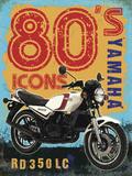 80's Icons - Yamaha Plaque en métal
