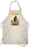 Cowboy & Horse, Montana Apron Apron