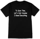 Save Time T-Shirts