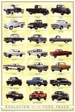 Ford Truck Evolution Posters