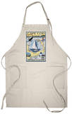 Cape Cod, Massachusetts Chart & Views Apron Apron
