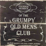 Grumpy Old Mens Club Cartel de madera