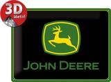 John Deere Logo black Plakietka emaliowana