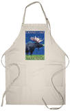 Grand Lake, Colorado - Moose at Night Apron Apron