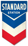 Chevron Die Cut Tin Sign