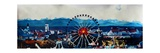 Munich Oktoberfest Panorama with Alps and Giant Wheel Premium Giclee Print by Markus Bleichner