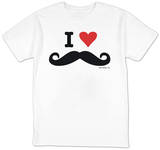 I Heart Mustahces T-Shirt