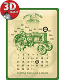 John Deere Kalender Tin Sign