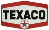 Texaco Die Cut Tin Sign