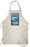 Oregon Coast Aquarium - Lantern Press Original Poster Apron Apron