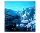 Ramsau Church in Winterwonderland Premium Giclee Print by Markus Bleichner