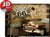 Route 66 Road Trip Cartel de metal