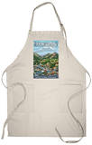 Estes Park Village, Colorado - Town View Apron Apron