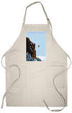 Skier Jumping - Steamboat Springs, Colorado Apron Apron