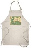 Alaska - Panoramic State Map Apron Apron