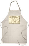 Australia - Panoramic Map Apron Apron