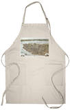 Charleston, South Carolina - Panoramic Map Apron Apron