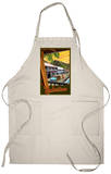 Old Lahaina Fishing Town with Surfer, Maui, Hawaii Apron Apron