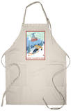 New Hampshire - Skier and Tram Apron Apron