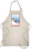 Downhhill Snow Skier, Lake Tahoe, California Apron Apron