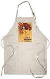 Paris, France - Vin Mariani Dancing Girl Pouring Wine Apron Apron