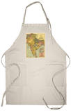 India - Panoramic Map Apron Apron