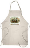 Club Friends Brand Cigar Box Label, Billards Apron Apron