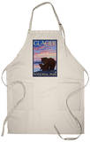 Bear and Cub, Glacier National Park, Montana Apron Apron
