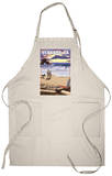 Ventura, California - Surfing Beach Scene Apron Apron