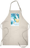 Visit the Zoo, Polar Bear and Cub Apron Apron