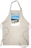 Dog Sledding Scene, Iditarod, Alaska Apron Apron