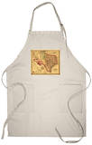 Texas - Panoramic Map Apron Apron