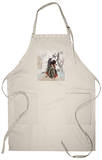 Archery, Japanese Wood-Cut Print Apron Apron