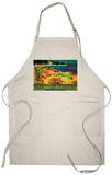 Summertime French Riviera Vintage - Europe Apron Apron