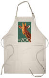 Visit the Zoo, Giraffe Up Close Apron Apron
