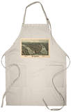 Pittsburgh, Pennsylvania - Panoramic Map Apron Apron