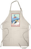 Wyoming Skier and Tram, Jackson Hole Apron Apron