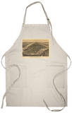 New York City, New York - Panoramic Map Apron Apron