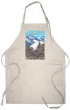Mountain Goats Scene, Glacier National Park, Montana Apron Apron
