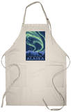 Northern Lights, Denali National Park, Alaska Apron Apron