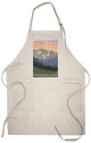 Spring Flowers, Glacier National Park, Montana Apron Apron