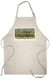 Houston, Texas - Panoramic Map Apron Apron