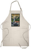 Multnomah Falls - Train and Cars Apron Apron