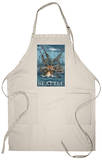 Kraken Attacking Ship - Seattle Apron Apron