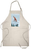 Colorado, Snowboarder Jumping Apron Apron