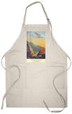 Pan-American Clipper Flying Over China - Hong Kong, China Apron Apron