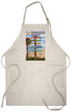 Pismo Beach, California - Destination Sign Apron Apron