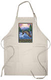 Fly Fishing Scene, Gallatin River, Montana Apron Apron