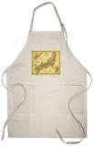 Japan - Panoramic Map Apron Apron