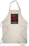 Vin Rouge De Table Wine Label - Europe Apron Apron